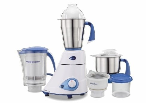 Best mixer grinders in India - Preethi Blue Leaf 750-Watt Mixer and Grinder with 3 jars