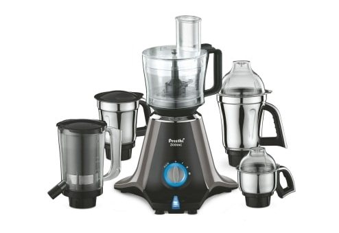 Preethi Zodiac 750-Watt Mixer Grinder with 5 jars