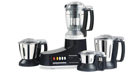 top mixer grinders in India - Panasonic 550-Watt Super Mixer Grinder with 4 jars