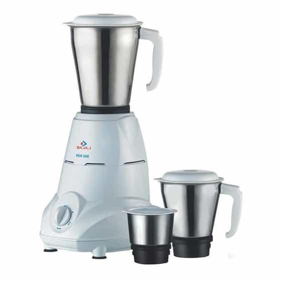 Bajaj Rex 500-Watt Mixer and Grinder - best mixer grinder