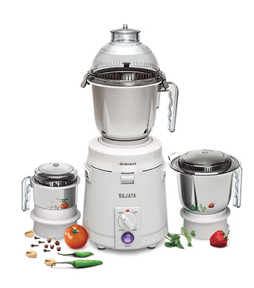 Sujata Dynamix DX 900-Watt Mixer and Grinder with 3 Jars