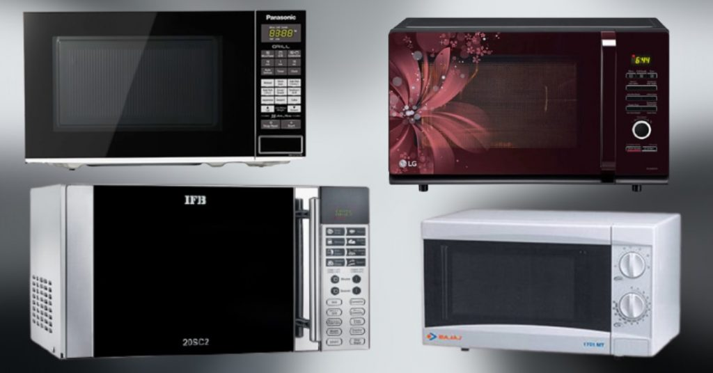 best microwave ovens in India - different microwave oven brands