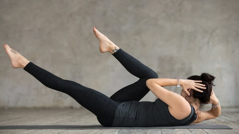 Crunches the Abs for women