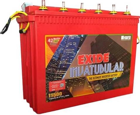 Exide Technologies Plastic Inva Tubular Tall IT500 150Ah battery
