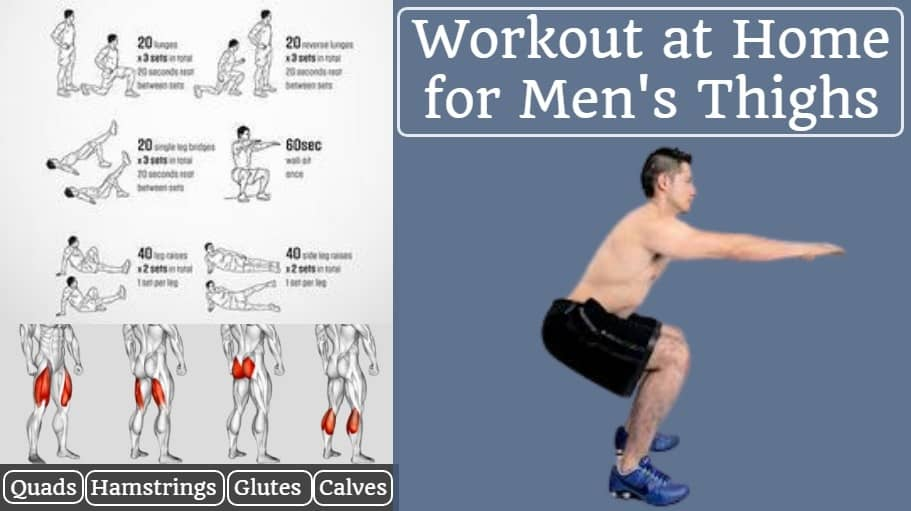 Workout at home for men's thighs