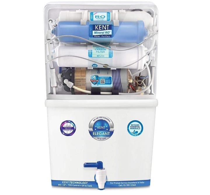Kent Elegant (11097), RO+UF+TDS Control+UV 8L Tank, Water Purifier