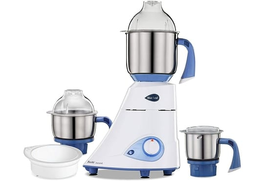 Preethi Blue Leaf 750-Watt Mixer and Grinder with 3 jars