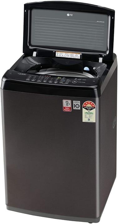 LG 6.5 Kg 5 Star Smart Inverter Fully-Automatic Top Loading Washing Machine (T65SJBK1Z, Black Knight Pattern, Jet Spray+)