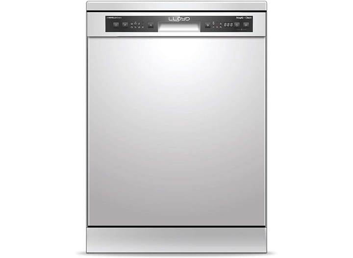 Lloyd MagiQ Clean (LDWF13PSE1DD, 13 Place Settings, 99% Germs Free with Sparkle Clean Technology, Half Load, Adjustable Racks, Super Silent, Silver)