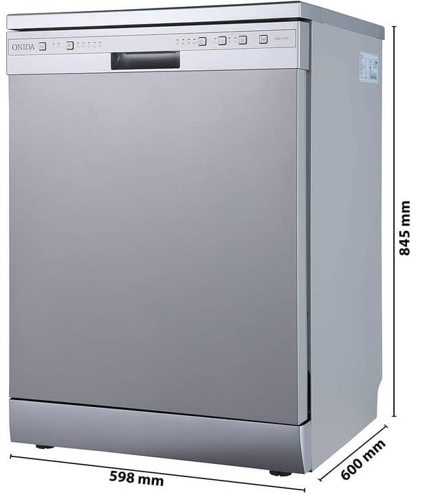 Onida 12 Place Settings Dishwasher (DW12PS,Silver)