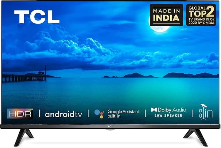 TCL 79.9 cm (32 Inches) HD Ready Certified Android Smart LED TV 32S65A