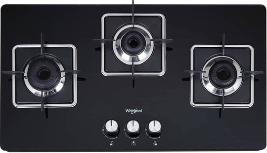 Whirlpool 3 Burner Heavy Duty Forged Brass Gas Stove